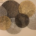 Metal bubbles gold silver black wall art